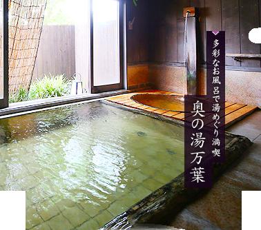 多彩なお風呂で湯めぐり満喫 奥の湯万葉